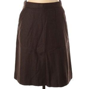 Theory Women Brown Wool Skirt